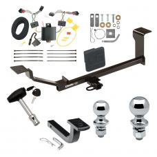"Trailer Tow Hitch For 13-15 Chevy Spark LT Ground Effects Deluxe Package Wiring 2"" and 1-7/8"" Ball and Lock"