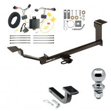 "Trailer Tow Hitch For 13-15 Chevy Spark LT Ground Effects Complete Package w/ Wiring Draw Bar and 2"" Ball"