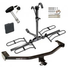 Trailer Tow Hitch For 13-18 Ford C-MAX Platform Style 2 Bike Rack w/ Hitch Lock and Cover