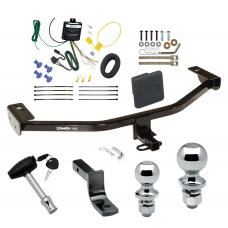 """Trailer Tow Hitch For 13-18 Ford C-MAX Deluxe Package Wiring 2"""" and 1-7/8"""" Ball and Lock"""