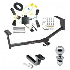 "Trailer Tow Hitch For 13-20 Ford Fusion Except Sport Complete Package w/ Wiring Draw Bar and 2"" Ball"