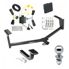 """Trailer Tow Hitch For 13-20 Lincoln MKZ Except 3.0 Liter Engine Complete Package w/ Wiring Draw Bar and 2"""" Ball"""