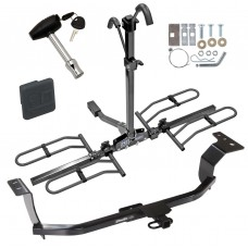 Trailer Tow Hitch For 11-16 Hyundai Elantra Platform Style 2 Bike Rack w/ Hitch Lock and Cover