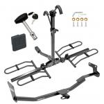 Trailer Tow Hitch For 14-18 Kia Forte 4 Dr. Sedan Platform Style 2 Bike Rack w/ Hitch Lock and Cover