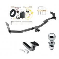 """Trailer Tow Hitch For 14-18 Kia Forte 4 Dr. Sedan Complete Package w/ Wiring Draw Bar and 2"""" Ball"""