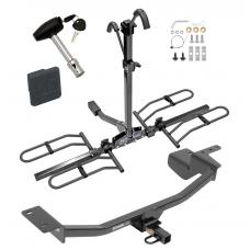 Trailer Tow Hitch For 10-14 Volkswagen GTI Hatchback Platform Style 2 Bike Rack w/ Hitch Lock and Cover