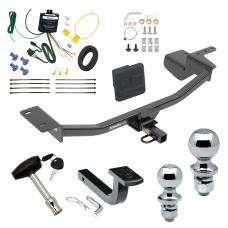 """Trailer Tow Hitch For 10-14 Volkswagen GTI Hatchback Deluxe Package Wiring 2"""" and 1-7/8"""" Ball and Lock"""