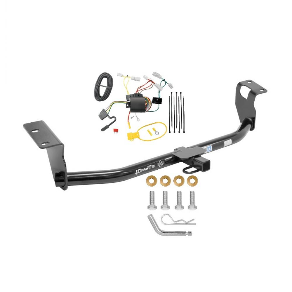 trailer tow hitch for 14-19 toyota corolla except hatchback trailer hitch  tow receiver w/ wiring harness kit