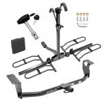 Trailer Tow Hitch For 03-19 Toyota Corolla Platform Style 2 Bike Rack w/ Hitch Lock and Cover
