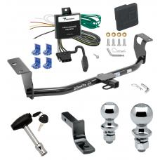 "Trailer Tow Hitch For 04-07 Toyota Corolla Deluxe Package Wiring 2"" and 1-7/8"" Ball and Lock"