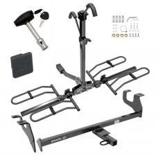 Trailer Tow Hitch For 15-17 Chrysler 200 4 Dr. Sedan Platform Style 2 Bike Rack w/ Hitch Lock and Cover