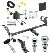 """Trailer Tow Hitch For 15-17 Chrysler 200 4 Dr. Sedan Deluxe Package Wiring 2"""" and 1-7/8"""" Ball and Lock"""