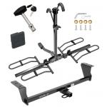 Trailer Tow Hitch For 14-16 Scion tC Except Dual Exhaust Platform Style 2 Bike Rack w/ Hitch Lock and Cover