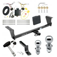 "Trailer Tow Hitch For 14-16 Scion tC Except Dual Exhaust Deluxe Package Wiring 2"" and 1-7/8"" Ball and Lock"