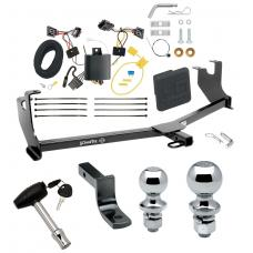 """Trailer Tow Hitch For 14-19 Volkswagen Beetle Except R-Line GSR Deluxe Package Wiring 2"""" and 1-7/8"""" Ball and Lock"""