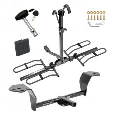 Trailer Tow Hitch For 14-15 Lexus IS250 14-20 IS350 Platform Style 2 Bike Rack w/ Hitch Lock and Cover