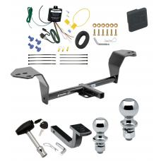 """Trailer Tow Hitch For 14-15 Lexus IS250 14-20 IS350 Except Convertible Deluxe Package Wiring 2"""" and 1-7/8"""" Ball and Lock"""