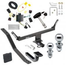 """Trailer Tow Hitch For 13-20 Cadillac ATS Except ATS-V Deluxe Package Wiring 2"""" and 1-7/8"""" Ball and Lock"""