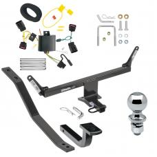 """Trailer Tow Hitch For 13-20 Cadillac ATS Except ATS-V Complete Package w/ Wiring Draw Bar and 2"""" Ball"""
