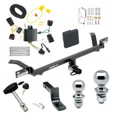 """Trailer Tow Hitch For 15-20 Volkswagen Golf Except Sportwagen Deluxe Package Wiring 2"""" and 1-7/8"""" Ball and Lock"""