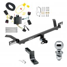 """Trailer Tow Hitch For 15-20 Volkswagen Golf Except Sportwagen Complete Package w/ Wiring Draw Bar and 2"""" Ball"""