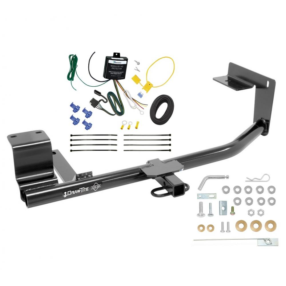 trailer hitch for 15-18 volkswagen jetta sedan except hybrid & tdi trailer  hitch tow receiver w/ wiring
