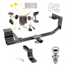 """Trailer Tow Hitch For 15-18 Volkswagen Jetta 4 Dr. Sedan Except Hybrid TDI Complete Package w/ Wiring Draw Bar and 2"""" Ball"""