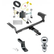 """Trailer Tow Hitch For 14-20 Cadillac CTS 4 Dr. Sedan Complete Package w/ Wiring Draw Bar and 2"""" Ball"""