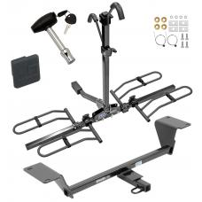 Trailer Tow Hitch For 15-20 Audi A3 Except Sportback e-tron Platform Style 2 Bike Rack w/ Hitch Lock and Cover