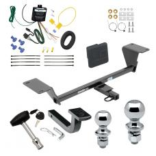 """Trailer Tow Hitch For 15-20 Audi A3 Except Sportback e-tron Deluxe Package Wiring 2"""" and 1-7/8"""" Ball and Lock"""