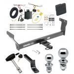 """Trailer Tow Hitch For 14-20 Infiniti Q50 Deluxe Package Wiring 2"""" and 1-7/8"""" Ball and Lock"""