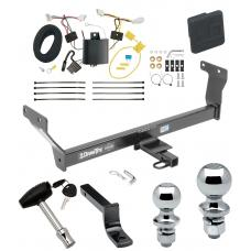"Trailer Tow Hitch For 14-20 Infiniti Q50 Deluxe Package Wiring 2"" and 1-7/8"" Ball and Lock"
