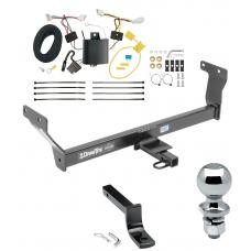 "Trailer Tow Hitch For 14-20 Infiniti Q50 Complete Package w/ Wiring Draw Bar and 2"" Ball"