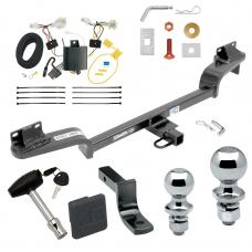 """Trailer Tow Hitch For 16-20 Mazda CX-3 Deluxe Package Wiring 2"""" and 1-7/8"""" Ball and Lock"""