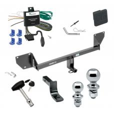 """Trailer Tow Hitch For 11-16 MINI Cooper Countryman Except John Cooper Works Model Deluxe Package Wiring 2"""" and 1-7/8"""" Ball and Lock"""