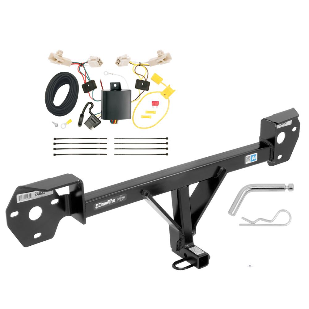 trailer hitch w/ wiring harness kit for 13-17 subaru brz 13-16 scion fr-s