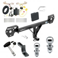 "Trailer Tow Hitch For 13-20 Subaru BRZ 13-16 Scion FR-S Deluxe Package Wiring 2"" and 1-7/8"" Ball and Lock"