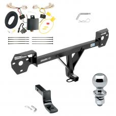 "Trailer Tow Hitch For 13-20 Subaru BRZ 13-16 Scion FR-S Complete Package w/ Wiring Draw Bar and 2"" Ball"