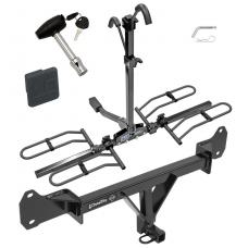 Trailer Tow Hitch For 15-17 BMW 528i 535d 535i 550i Platform Style 2 Bike Rack w/ Hitch Lock and Cover