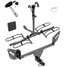 Trailer Tow Hitch For 16-20 Chevy Camaro Platform Style 2 Bike Rack w/ Hitch Lock and Cover