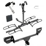 Trailer Tow Hitch For 16-20 Chevy Spark Platform Style 2 Bike Rack w/ Hitch Lock and Cover