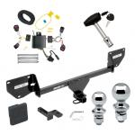 """Trailer Tow Hitch For 2016 Chevy Spark Deluxe Package Wiring 2"""" and 1-7/8"""" Ball and Lock"""
