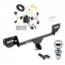 "Trailer Tow Hitch For 16-20 Chevy Spark Complete Package w/ Wiring Draw Bar and 2"" Ball"