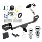 """Trailer Tow Hitch For 17-20 Chevy Spark Deluxe Package Wiring 2"""" and 1-7/8"""" Ball and Lock"""