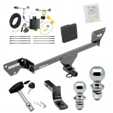 """Trailer Tow Hitch For 16-19 Chevy Cruze Deluxe Package Wiring 2"""" and 1-7/8"""" Ball and Lock"""