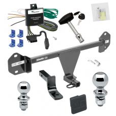 """Trailer Tow Hitch For 12-14 BMW 320i Deluxe Package Wiring 2"""" and 1-7/8"""" Ball and Lock"""