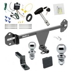 """Trailer Tow Hitch For 12-14 BMW 320i 328d 328i 335i Deluxe Package Wiring 2"""" and 1-7/8"""" Ball and Lock"""