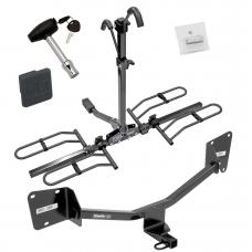 Trailer Tow Hitch For 16-19 Chevy Volt Platform Style 2 Bike Rack w/ Hitch Lock and Cover