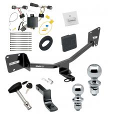 """Trailer Tow Hitch For 16-19 Chevy Volt Deluxe Package Wiring 2"""" and 1-7/8"""" Ball and Lock"""