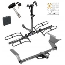 Trailer Tow Hitch For 17-18 Toyota Yaris iA 16 Scion iA Platform Style 2 Bike Rack w/ Hitch Lock and Cover